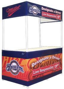8ft Rectangular Outdoor Display.