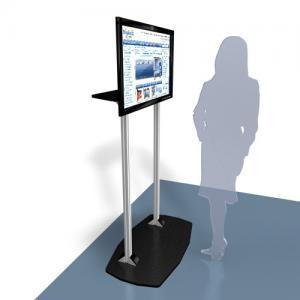 Large Monitor Stand for Trade Show Displays